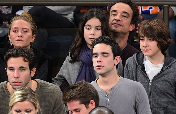 The couple were joined by Sarkozy's kids. (James Devaney/WireImage)