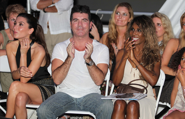Mezhgan Hussainy, Simon Cowell, and Sinitta (Splash News)