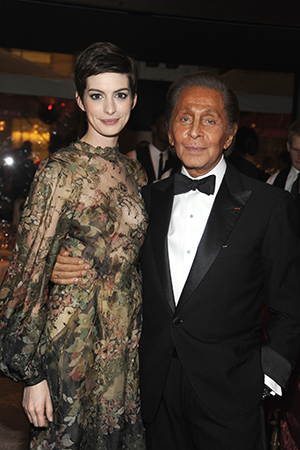 Hathaway and Valentino in September. (Rabbani and Solimene Photography/WireImage)
