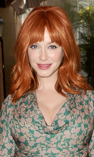 Christina Hendricks before. (Kevin Winter/Getty)