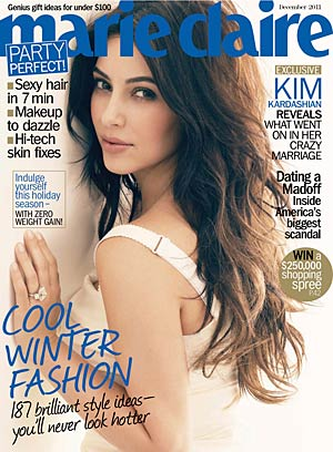 Kim Kardashian on the cover of Marie Claire. Tesh/Marie Claire
