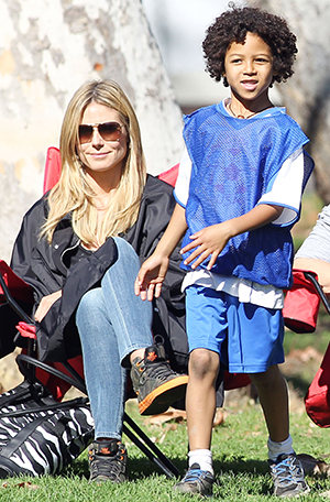 Heidi Klum and her Johan (Splash News)