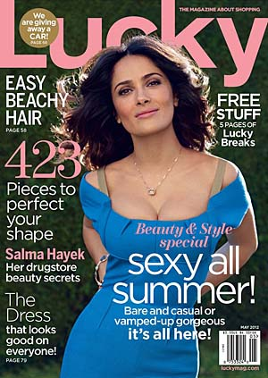 Salma Hayek covers Lucky. Patrick Demarchelier/Lucky