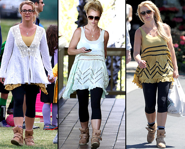 Britney Spears on April 14, 18, and 19 (INFDaily/Splash News)