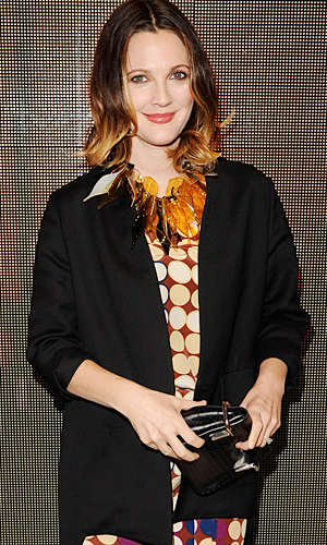 Is Drew Barrymore hiding a baby bump? (Jason Merritt/Getty Images)