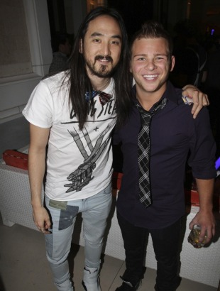 ... (that's him alongside DJ Steve Aoki at Sin City's Surrender nightclub, ...
