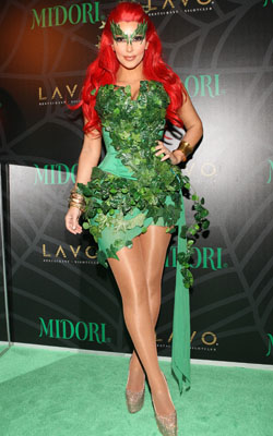 "Kim Kardashian as ""Batman"" character, Poison Ivy (Bennett Raglin/WireImage)"