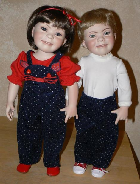 <i>The boy and girl dolls come in a variety of skin, eye, and hair colors</i>