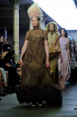 Veruschka the runway in London this week. (Photo by Gareth Cattermole/Getty Images)