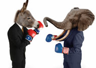 Donkey and Elephant fighting (politics)