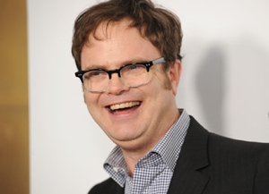 Even Marc Maron couldn't wipe this smile off Rainn Wilson's face. (Jason Merritt/Getty Images)