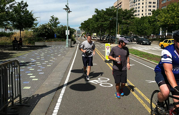 Frank Del Vecchio (left) trains for his run. (Run for Hope Foundation)