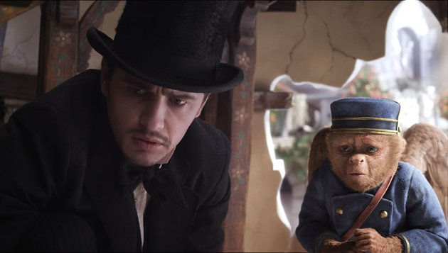 James Franco and Finley in Walt Disney Pictures' 'Oz The Great and Powerful'