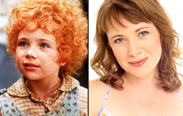 Aileen Quinn as Annie, left, and Aileen Quinn now (Photo: Sony Pictures)