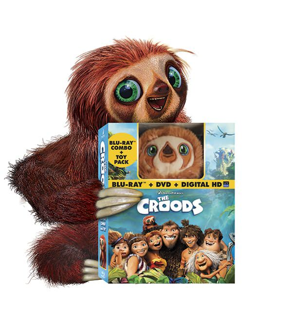 'The Croods' Extended Cut' Blu-ray combo pack, modeled by Belt. Photo courtesy of Dreamworks Animation.