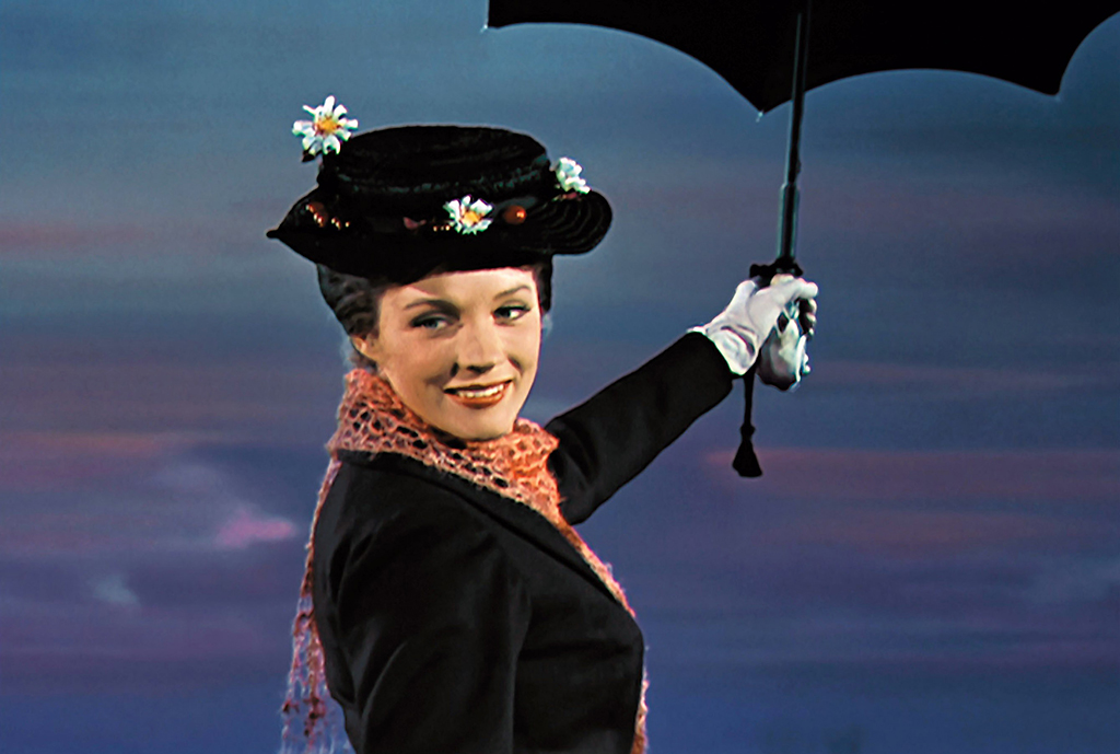 Julie Andrews in 'Mary Poppins,' 1964 (Photo: Everett)