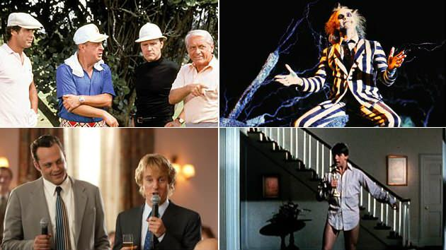 'Caddyshack,' 'Beetlejuice,' 'Risky Business,' & 'Wedding Crashers.' 4 of the Best of Warner Bros. 20 Film Collection Comedies.