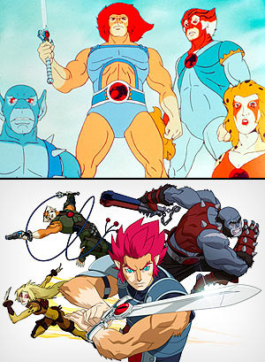 """Thundercats"" old (top) and new (Everett Collection; WB Animation/Cartoon Network)"