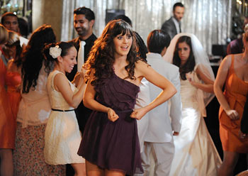 "It's your birthday, it's your birthday: Our favorite ""New Girl"" shakes her groove thang (Ray Mickshaw/Fox)"