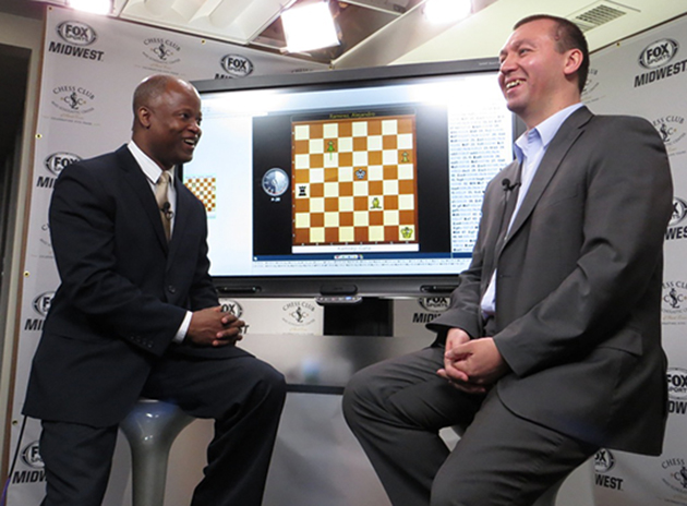 Caption: Chess champ Gata Kamsky, right (Credit: US Chess Championships)