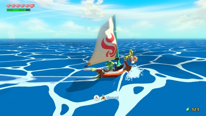 Unless speedrunners find a new glitch to exploit in the Wii U version of Wind Waker, crossing the ocean will be a time-consuming activity. (Image: Nintendo)