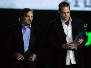 Bioware founders Greg Zeschuk and Ray Muzyka (Getty Images)