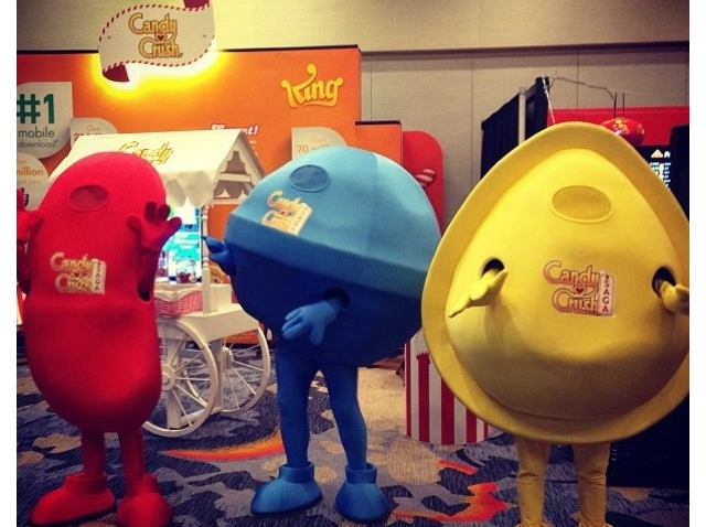 Life-size renditions of candies from King's Candy Crush Saga. (Credit: Chester Ng/Facebook)