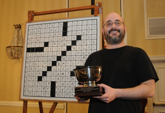 Dan Feyer is a crosswords king (Credit: Don Christensen, Courtesy of the American Crossword Puzzle Tournament)
