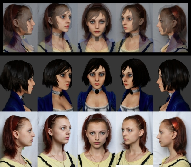 Anna's headshot and Elizabeth's character model (Credit: Irrational Games)