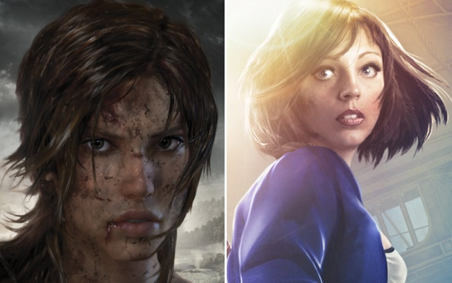 Tomb Raider's Lara Croft and BioShock Infinite's Elizabeth (Credit: Square-Enix/2K Games)