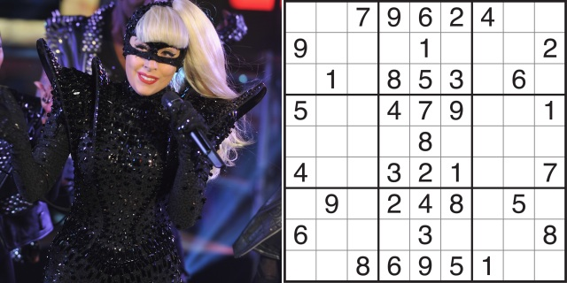 Lady Gaga vs. Sudoku (Credit: Getty Images)