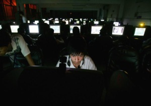Gamers at internet cafe in China (Getty Images)