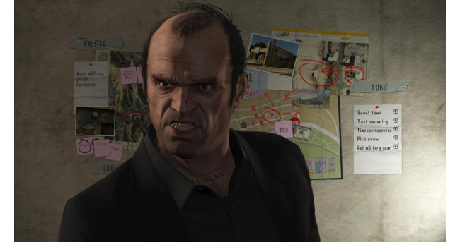 An angry still from Grand Theft Auto V. (Credit: Rockstar Games)
