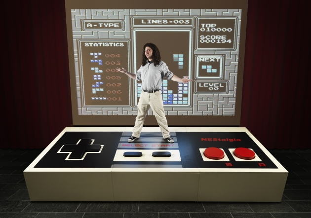 Largest Video Game Controller (Photo Credit: Ranald Mackechnie/Guinness World Records)