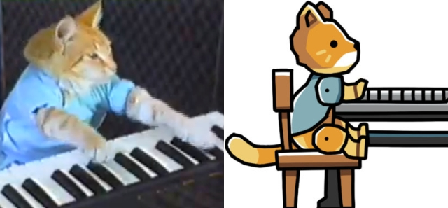 Keyboard Cat vs. Keyboard Cat (Credit: Charles Schmidt/Warner Bros Interactive)