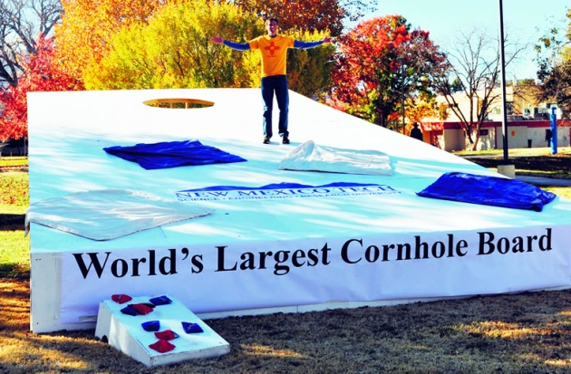 New Mexico cornhole board declared world's largest