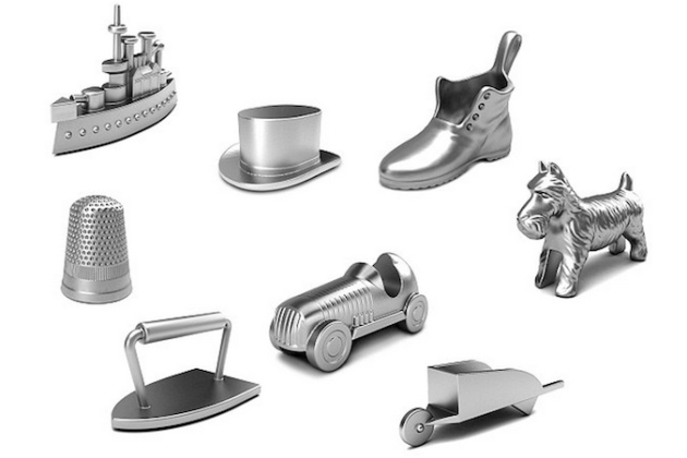 The current Monopoly tokens (Credit: Hasbro)