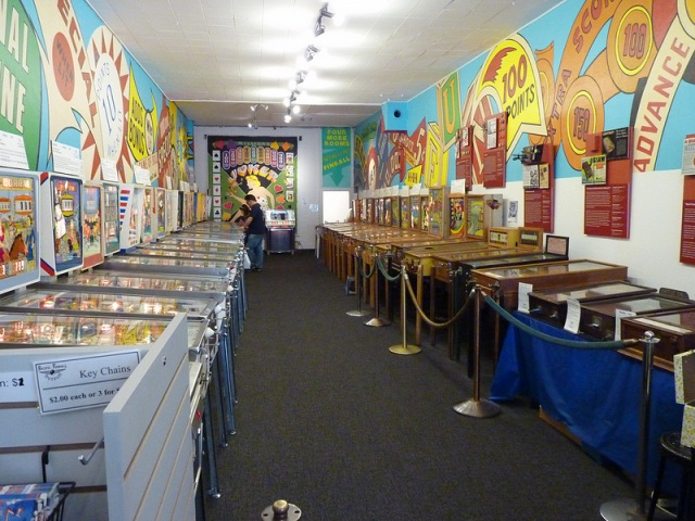 One of several rooms full of nostalgia at the Pacific Pinball Museum in Alameda, CA. (Photo: Mike Krumboltz)