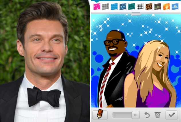 Ryan Seacrest and some close friends (Credit: Getty Images/Zynga)