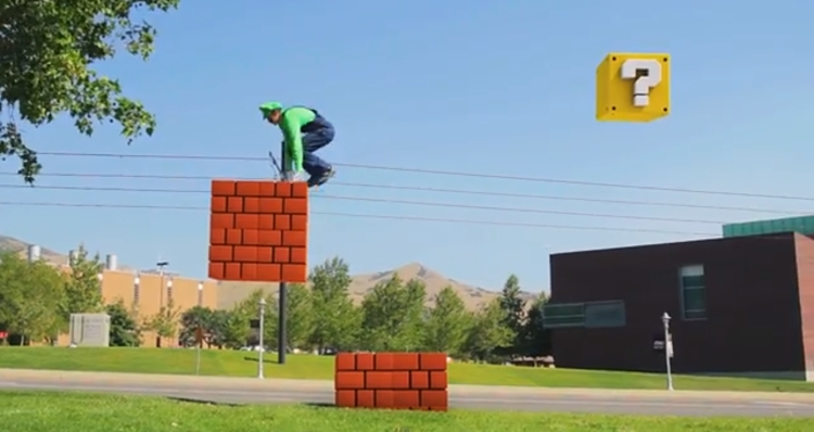 Super Mario parkour video turns city streets into a classic game