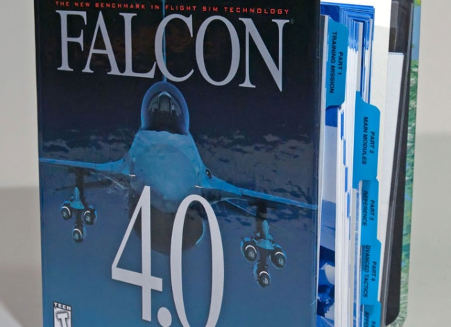 The massive manual of Falcon 4.0 (Credit: Microprose)