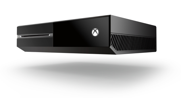 Xbox One, mysteriously defying gravity (Credit: Microsoft)
