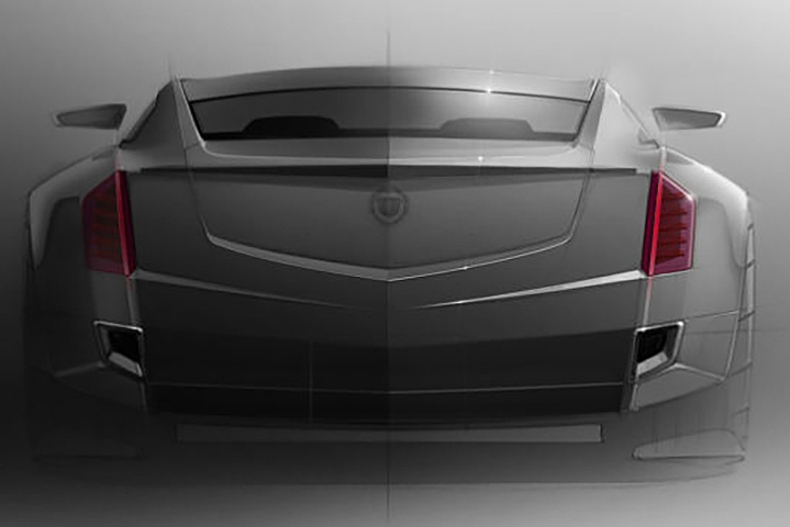 cadillac s flagship ct6 shows its face will feature twin turbo v8. Black Bedroom Furniture Sets. Home Design Ideas