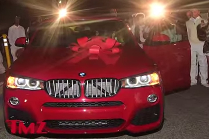 Lil wayne s daughter got a ferrari bmw for sweet 16