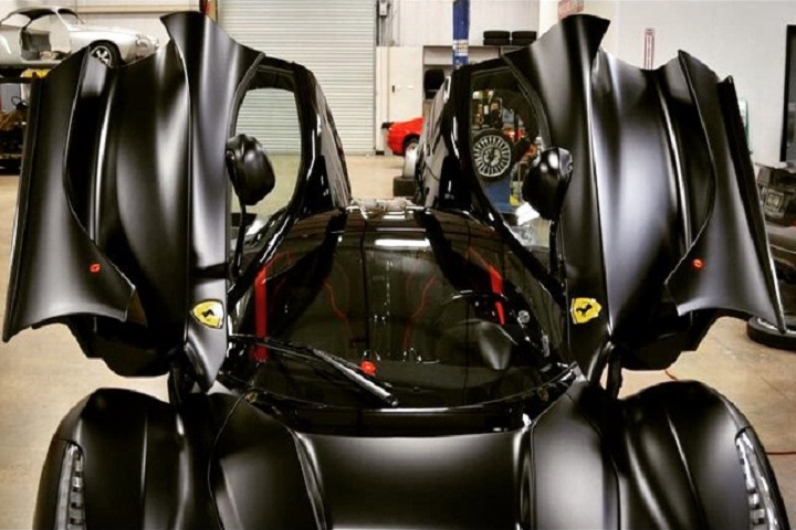 Matte Black Ferrari LaFerrari Looks Like The Batmobile