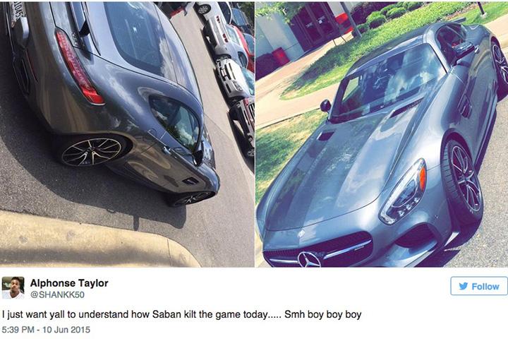 Nick Saban New Car