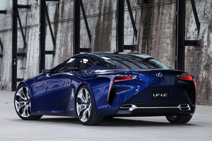 Lexus Lf Lc Super Coupe Rear View Photo