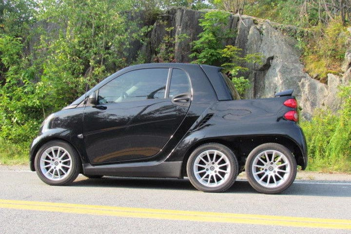 Someone Built A 6 Wheeled Smart Fortwo Truck And It S Awesome