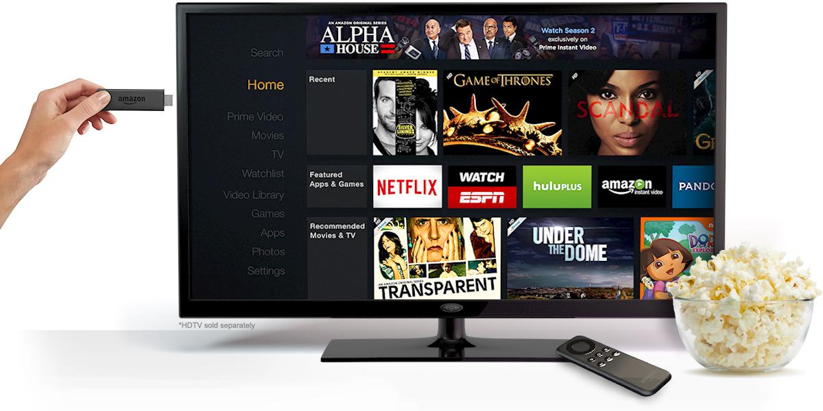 Amazon takes on Chromecast with Fire TV Stick