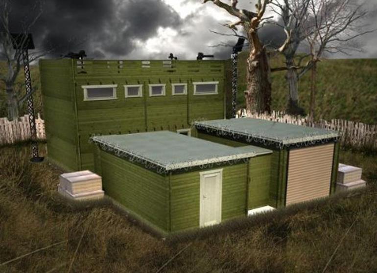 Zombie-proof log cabin has 10-year anti-zombie guarantee